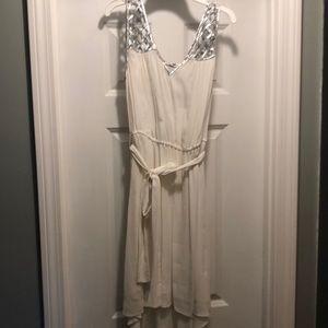 White and sliver dress